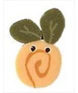 "Tiny Tuscan Sun Swirly Bud 2308t handmade button .37"" JABC Just Another ... - $1.40"