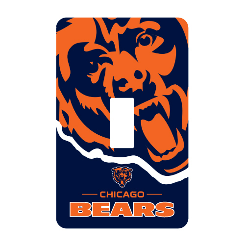 CHICAGO BEARS PEEL N STICK SINGLE SWITCH PLATE COVER