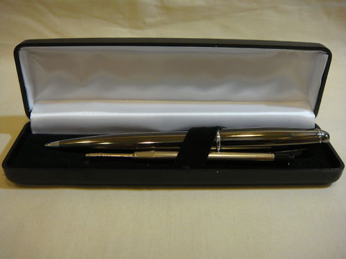 CINCINNATI BENGALS BLACK EXECUTIVE PEN WITH CASE NEW