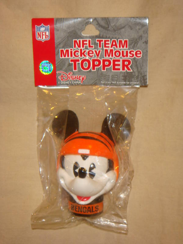 CINCINNATI BENGALS MICKEY MOUSE CAR ANTENNA TOPPER NFL