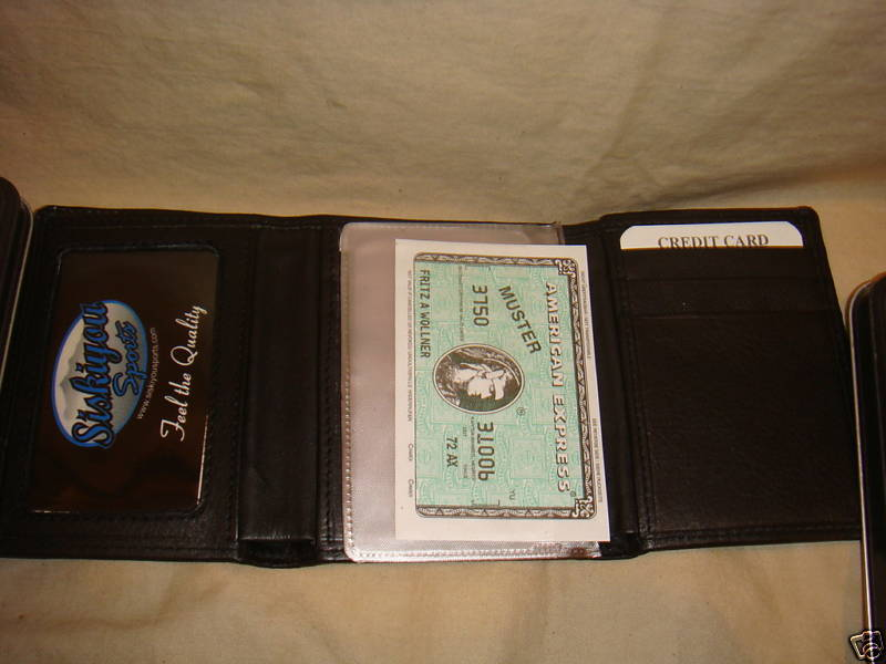 CINCINNATI BENGALS WALLET TRIFOLD LEATHER NFL W/ CASE