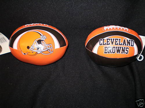"CLEVELAND BROWNS FOOTBALL 6"" SOFTEE FOOTBALL NFL NEW"