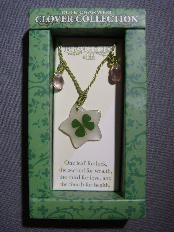 CLOVER COLLECTION FOUR LEAF CLOVER BRACELET NEW - A