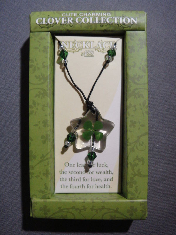 CLOVER COLLECTION FOUR LEAF CLOVER NECKLACE NEW - B