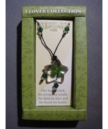 CLOVER COLLECTION FOUR LEAF CLOVER NECKLACE NEW - B - $3.95