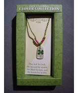 CLOVER COLLECTION FOUR LEAF CLOVER NECKLACE NEW - C - $3.95