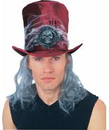 COBWEB HAT AND HAIR RED BURGANDY VELVET HALLOWEEN NEW - $7.09