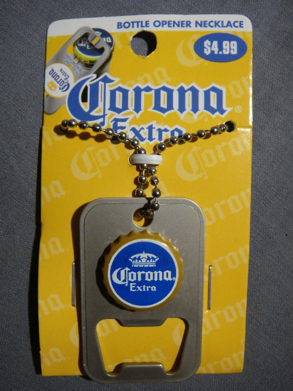 CORONA EXTRA BOTTLE CAP LOGO BOTTLE OPENER NECKLACE NEW