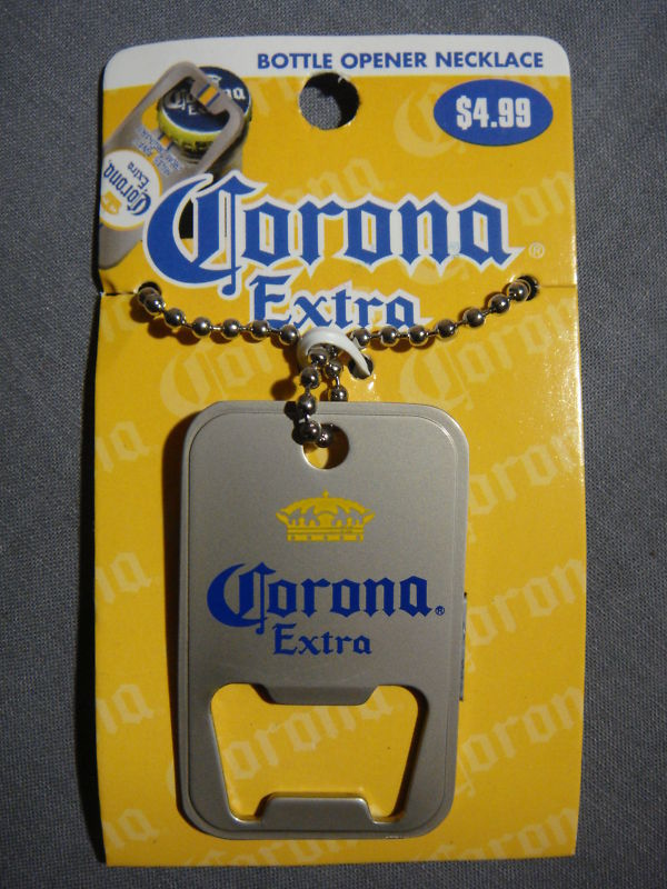 CORONA EXTRA LOGO BOTTLE OPENER NECKLACE NEW