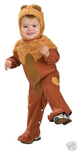 COWARDLY LION  COSTUME WIZARD OF OZ INFANT 6-12 MONTHS
