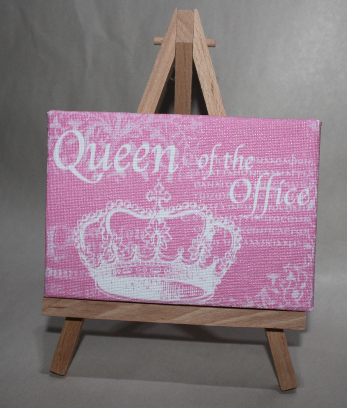 Primary image for Queen of the Office Pink Desk or Wall Plaque