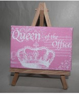 Queen of the Office Pink Desk or Wall Plaque - $6.50