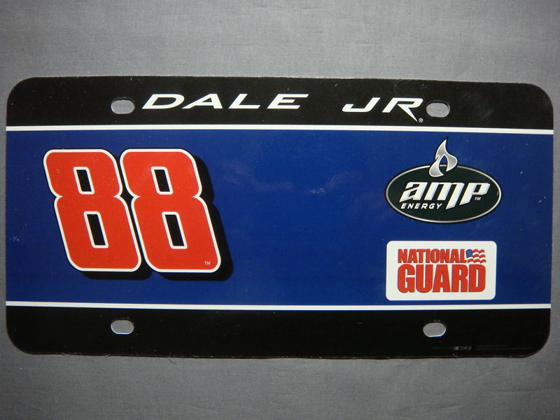DALE EARNHARDT JR. #88 NASCAR LICENSE PLATE NEW AMP