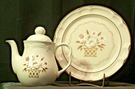 Cumberland Stoneware Mayblossom Pitcher with lid & Serving Tray AA-192035-F Vin image 8
