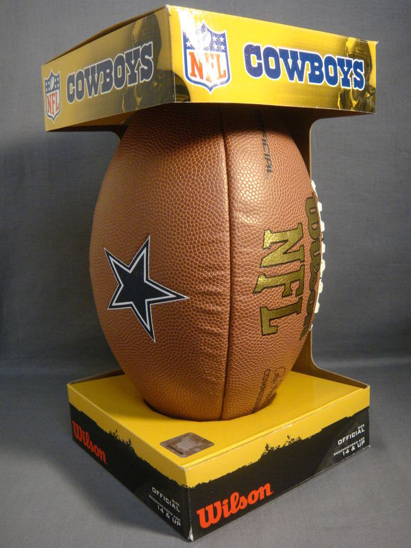 DALLAS COWBOYS OFFICIAL SIZE WILSON FOOTBALL NEW NFL