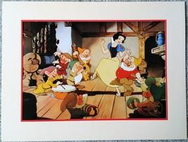 Disney's Snow White & Seven  1994 Commemorative Lithograph from the Disn... - $7.92