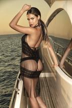 Women's Black Mesh Fringe Brand Designer Swimsuit Beach Cover Up image 2