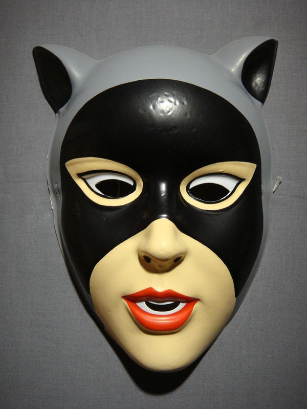 DC BATMAN COMICS CATWOMAN HALLOWEEN MASK PVC NEW