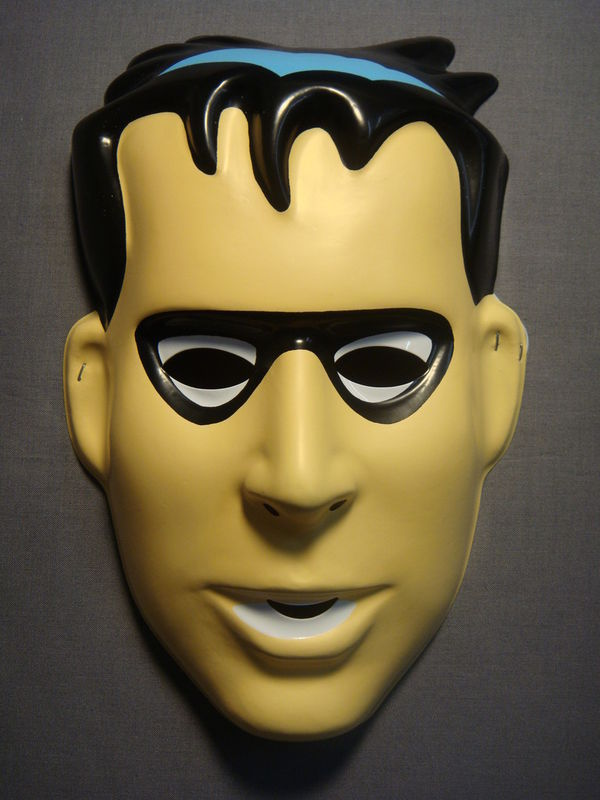 DC COMICS BATMAN ROBIN HALLOWEEN MASK PVC NEW