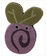 Tiny Lavender Swirly Bud 2311t handmade button ... - $1.40
