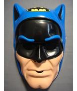 DC COMICS JUSTICE LEAGUE BLUE BATMAN WITH LOGO HALLOWEEN MASK PVC NEW - $6.88