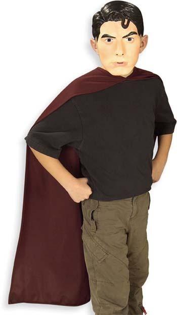 DC COMICS SUPERMAN RETURNS HALLOWEEN COSTUME MASK & CAPE SET NEW