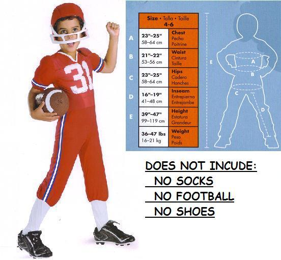 LINEBACKER COSTUME WITH MUSCLES CHILD'S SM 4/6