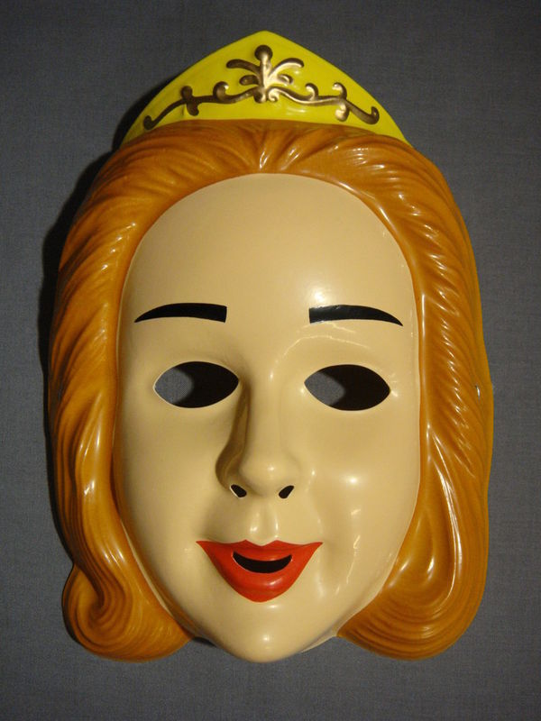 DISNEY CINDERELLA PRINCESS HALLOWEEN MASK PVC NEW