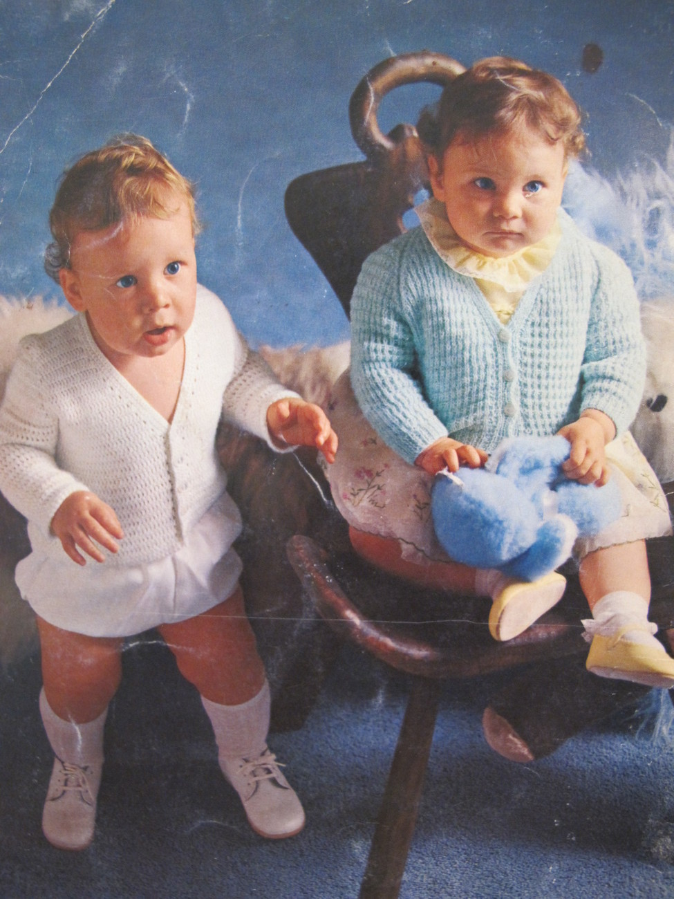 Vintage Patons Knitting Crochet Patterns BABY Outfits Christening Dress BABIES