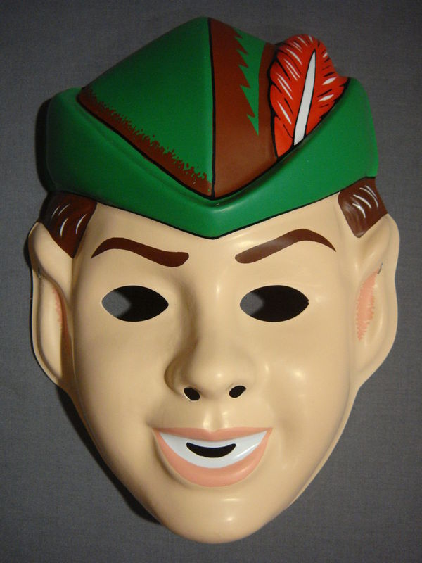 DISNEY PETER PAN HALLOWEEN MASK PVC NEW