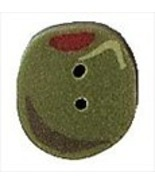 """Tiny Olive 2313t handmade clay button .25"""" JABC Just Another Button Co  - $1.40"""