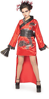 DRAGON LADY HALLOWEEN COSTUME TEEN JR SIZE 2-4