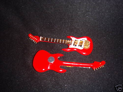 ELECTRIC GUITAR RED MUSICAL INSTRUMENT MAGNET 4""