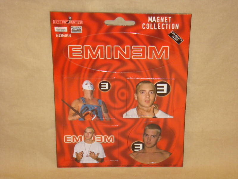 EMINEM ROCK MAGNETS OFFICIALLY LICENSED SET OF 5 NEW