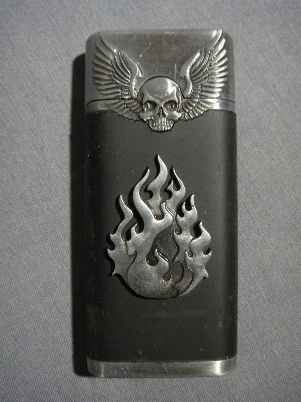 FIREBALL RAISED LOGO SILVER TORCH LIGHTER NEW