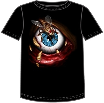 FLY IN THE EYE HALLOWEEN T-SHIRT NETHERWORLD TEE LARGE