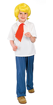 FRED SCOOBY DOO CHILD LARGE 12-14 HALLOWEEN COSTUME