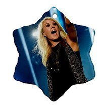 Memorabilia Ornament Carrie Underwood Procelain Ornaments (Snowflake) Ch... - $3.49