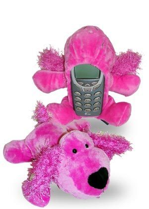 FUN FRIENDS EM PINK DOG BAR STYLE CELL PHONE COVER NEW