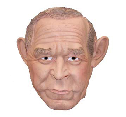 GEORGE W BUSH MASK FAMOUS FACES NEW ADULT SIZE RUBIES