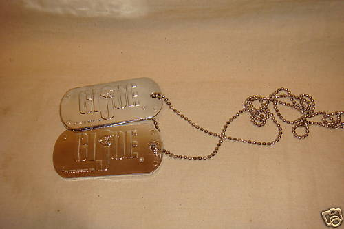 GI JOE DOG TAGS COSTUME ACCESSORY NEW