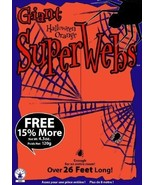 GIANT ORANGE SPIDER WEBS WITH SPIDERS HALLOWEEN DECORATION NEW - $3.95