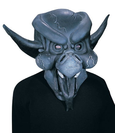 GOTHIC GARGOYLE DEMON ADULT LATEX HALLOWEEN MASK NEW