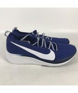 Nike Zoom Fly Flyknit Running Shoes Men's Size 11.5 Royal Blue White AR4... - $94.05