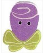 Tiny Purple Ribbon Rose 2322t handmade clay but... - $1.40