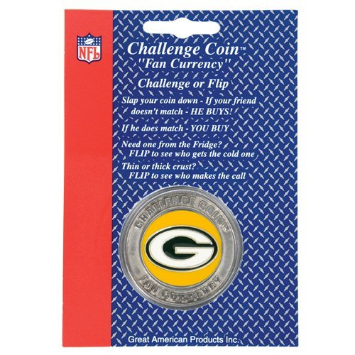 GREEN BAY PACKERS CHALLENGE COIN FAN CURRENCY NFL NEW