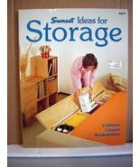 Sunset Ideas for Storage, Cabinets Closets Bookshelves, 1979 - $9.99