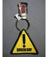 GREEN DAY YELLOW HAZARD SIGN PATCH KEYCHAIN NEW - $4.95
