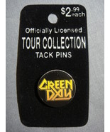 GREEN DAY YELLOW METAL GOD LOGO TOUR COLLECTION PIN NEW - $1.95