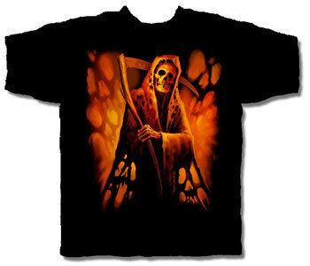GRIM REAPER HALLOWEEN T-SHIRT NETHERWORLD TEE LARGE
